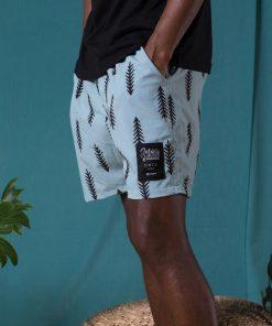 Blue Pine Summer Shorts