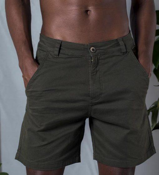casual shorts green